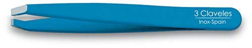 3 Claveles 12281 - Pinzetta depilatoria inossidabile, punta granchio 9 cm