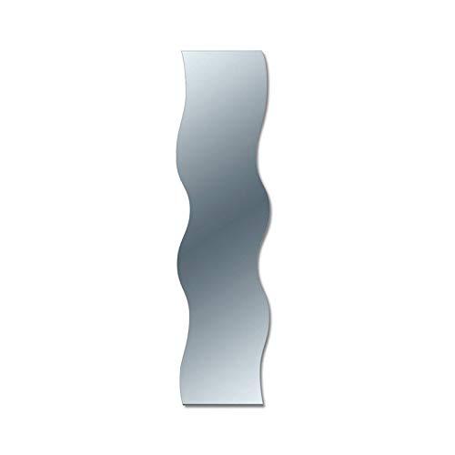 Specchio da Parete Onda a Filo Lucido 38x160 cm