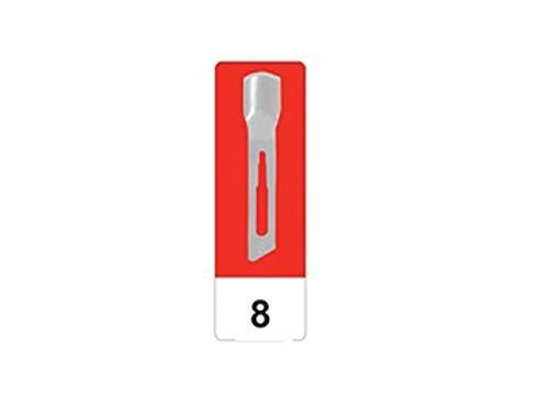 GIMA 22508 Lame Sgorbie in Acciaio al Carbonio, N. 8, Sterili, per Manicure e Pedicure, 50 Lame confezionate in modo singolare