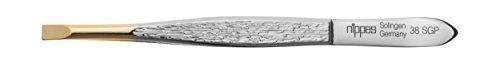 Nippes Solingen - Pinzette in acciaio nichelato 38SGP, 9 cm, 21 g