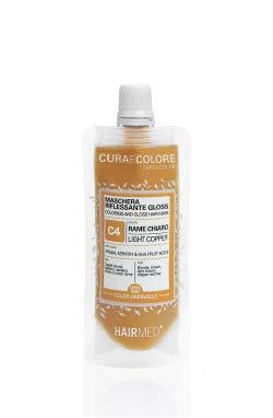 HAIRMED - Cura e Colore - Maschera Riflessante Capelli - Bagno di Colore Senza Ammoniaca - Gloss C4 - Rame Chiaro - 40 ml