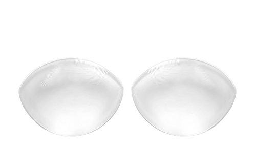 SODACODA - 260g/ Paio - Grande Push Up Inserti in Silicone Imbottiture per reggiseni o costumi da bagno - Transparente