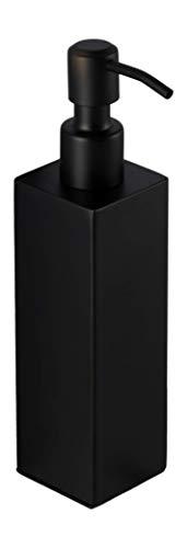 Ambrosya - Dispenser di Sapone a Colonna in Acciaio Inossidabile Nero - Porta-Sapone Supporto per Il Bagno (Acciaio Inossidabile (Nero), Angolare)
