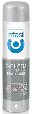Set 6 INFASIL Deodorante Spray Tripla Protezione Neutro Ml 150 Cura E Igiene Del Corpo