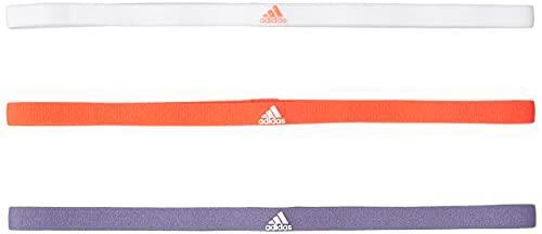adidas 3PP Hairband Fascia per la Testa, Vioorb/Bianco/Rosso, Taglia Unica Unisex-Adulto