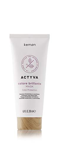 Kemon Actyva Colore Brillante Mask Maschera Protettiva per Capelli Colorati, con Frutti Rossi, Effetto Districante, Filtro UV, 200 ml