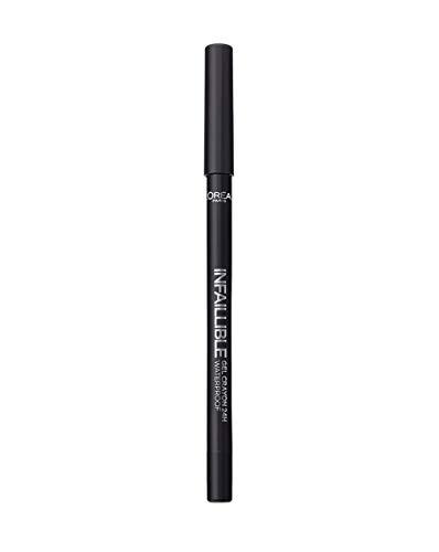 L'Oréal Paris Infaillible Gel Matita Occhi Lunga Tenuta Waterproof, 01 Black To Black