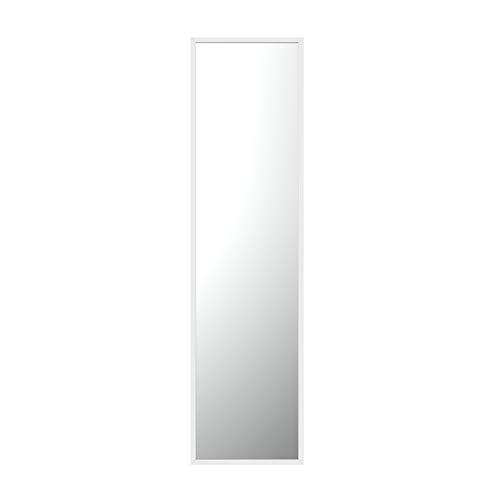 Specchio da parete di Gold & Chrome, rettangolare, con la cornice in metallo verniciata a polvere, la superficie dello specchio liscia, 2 cm di profondità, facile installazione orizzontale o verticale