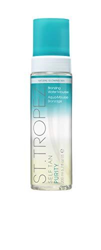 St. Tropez - Mousse abbronzante effetto abbronzante, 200 ml, con acqua abbronzante vegana, 100% naturale abbronzante, fragranza tropicale