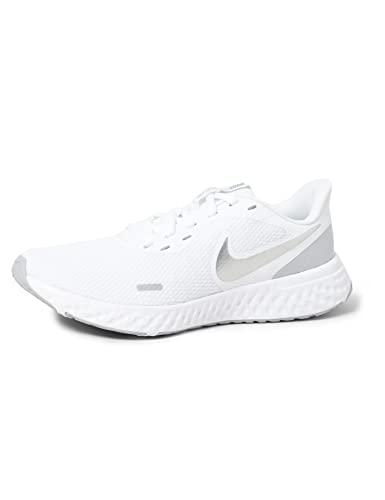 Nike Wmns Revolution 5, Scarpe da Corsa Donna, White/Wolf Grey-Pure Platinum, 37.5 EU