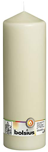 Bolsius - Candela per Esterni ed Interni, 300 x 98 mm, Colore Avorio