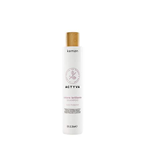 Kemon - Actyva Colore Brillante Shampoo, Azione Emolliente e Rivitalizzante per Capelli Colorati, con Frutti Rossi, Filtro UV - 250 ml