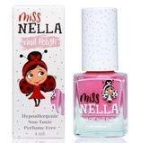 Miss Nella Pink A Boo molto brillante, smalto per bimbe a base acqua, Formula peel off