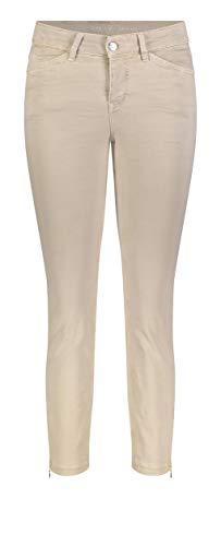 MAC Jeans Dream Chic Jeans Straight, Beige (Smoothly Beige 214w), W36/L27 (Taglia Produttore: 36/27) Donna