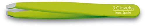 3 Claveles 12279 - Pinzetta depilatoria inossidabile, punta granchio 9 cm