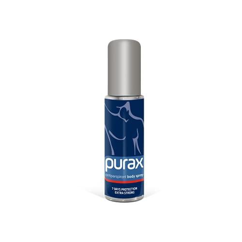 Purax, Spray corpo antitraspirante, extra forte: fino a 5 giorni di protezione, 50 ml