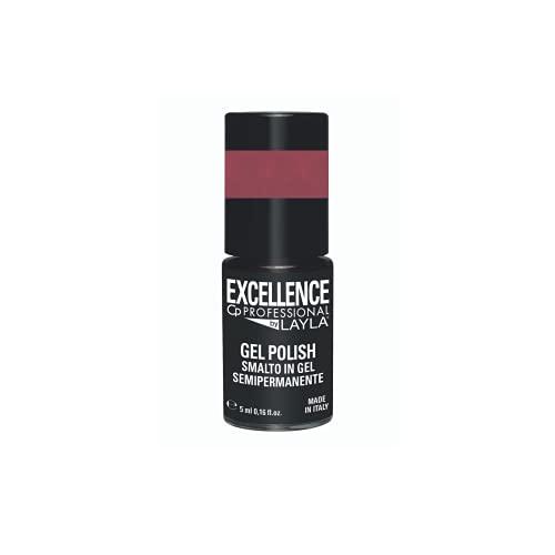 Excellence By Layla - Gel Polish N.229 Natural Cover - Smalto Semipermanente Unghie Professionale - Smalto Gel Facile da Applicare, Autolivellante per un Colore Uniforme, Resistente, Protettivo - 5 ml