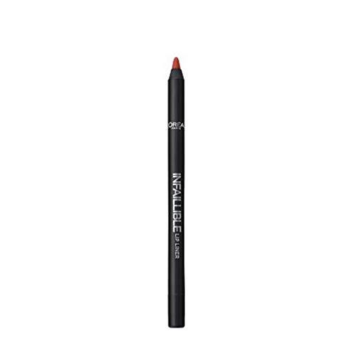 L'Oréal Paris Infallibile Lip Liner Matita Labbra a Lunga Tenuta, 105 Red Fiction