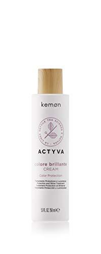 Kemon - Actyva Colore Brillante Cream, Crema Protettiva e Ristrutturante per Capelli Colorati, con Frutti Rossi, Lucidante e Antistatico - 150 ml