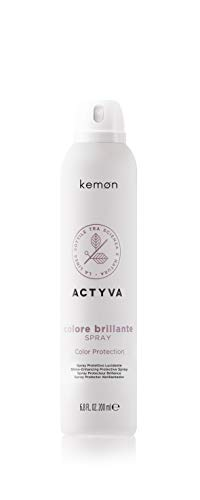 Kemon - Actyva Colore Brillante Spray, Azione Protettiva contro l'Inquinamento per Capelli Colorati, con Frutti Rossi, Filtro UV - 200 ml