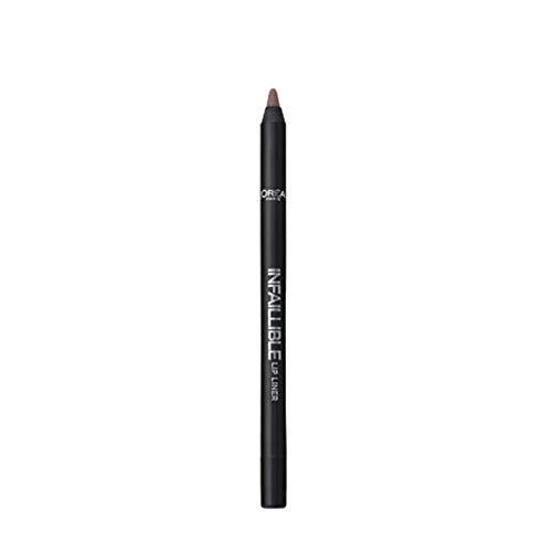 L' oréal Paris Make Up Designer, Infallible - Matita per contour labbra, 212 marrone nude