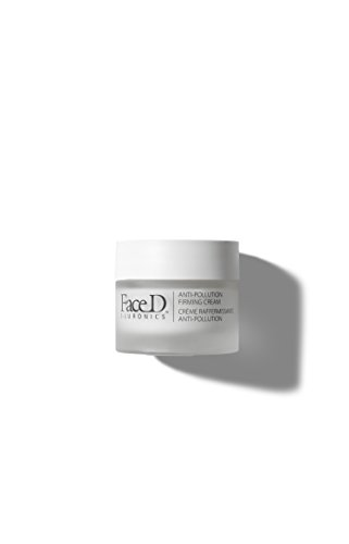 Face D - Crema Viso Rassodante Antinquinamento con Acido Ialuronico, Vitamina E e SPF15, 30 ml
