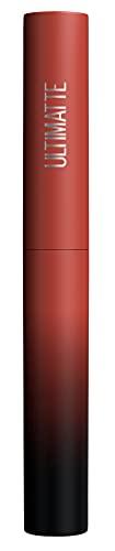 Maybelline New York Rossetto opaco, colori intensi e comfort, Color Sensational Ultimatte, colore n. 899 More Rust (rosso marrone), 1 x 2 g