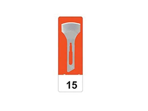 GIMA 22515 Lame Sgorbie in Acciaio al Carbonio, N. 15, Sterili, per Manicure e Pedicure, 50 Lame confezionate in modo singolare