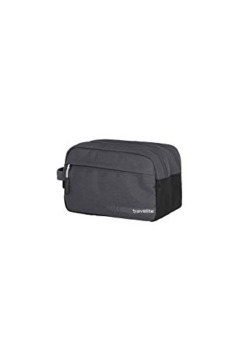 travelite beauty case per il bagaglio a mano, serie di valigie KICK OFF: pratica borsa da toilette per le vacanze e lo sport, 26 cm, 5 litri, color antracite (grigio)