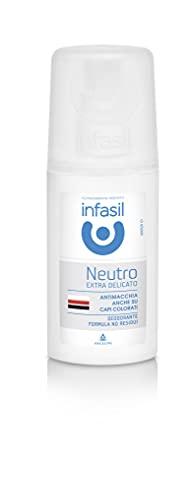 Infasil Deodorante Vapo No Gas Neutro Extra Delicato, Formula Antimacchia Senza Sali di Alluminio, Efficace Fino a 24h, 70 ml
