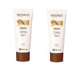 2 x Naturviti Crema Mani Argan Biologico Emolliente e Protettiva 75 ml