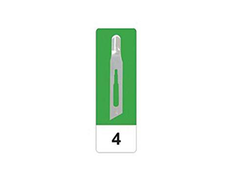 GIMA 22504 Lame Sgorbie in Acciaio al Carbonio, N. 4, Sterili, per Manicure e Pedicure, 50 Lame confezionate in modo singolare