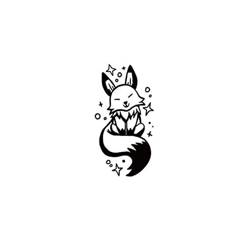 JZLMF Piccolo principe di volpe, simpatico tatuaggio da donna, impermeabile, resistente
