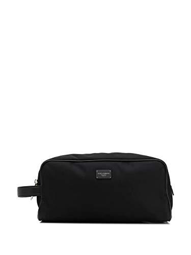 Luxury Fashion   Dolce E Gabbana Uomo BT0985AX75280999 Nero Poliammide Beauty Case   Primavera-estate 20