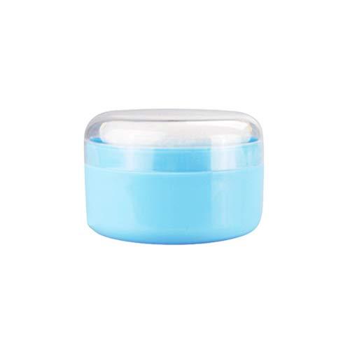 SUPVOX - Contenitore vuoto per polvere di talco, con soffi e setaccio, per casa e viaggio