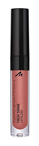 Manhattan High Shine lucidalabbra per labbra luccicanti con una semplice applicazione, 24 O (rosa), 2.9 ml
