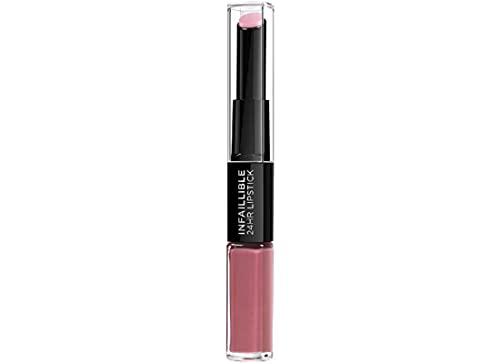L'Oréal Paris MakeUp Rossetto Balsamo 2in1 Infaillible 2 Step 24H, Rossetto a Lunga Tenuta, Balsamo Idratante, Effetto No Transfer, 109 Blossoming Berry