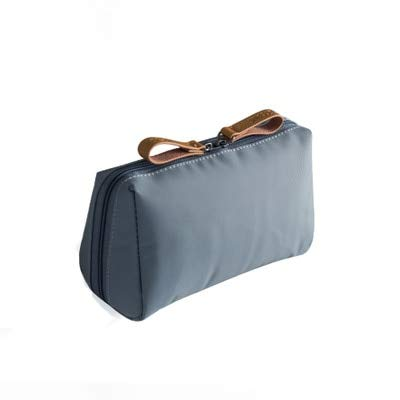 Solid Cosmetic Bag Korean Style Women Makeup Bag Pouch Toiletry Bag Waterproof Makeup Organizer Case necessaire gray14*10*7cm