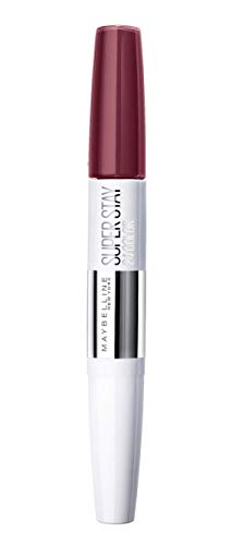 Maybelline New York Superstay 24Color Rossetto a Lunga Durata Doppio Gesto, Liquido Intenso e Balsamo per Fissare il Colore, 260 Wildberry