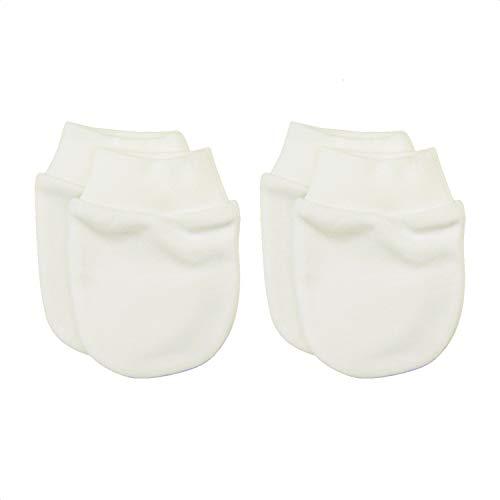 Sevira Kids - Muffole nascita in cotone biologico, confezione da 2 paia ecru Nascita