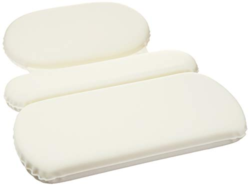AmazonBasics - Cuscino cervicale a 3 pannelli con ventose per vasca da bagno