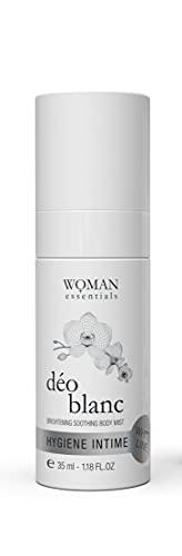 WOMAN ESSENTIALS DEO BLANC - Deodorante Naturale Spray per uso intimo e il corpo con efficacia fino a 24 ore - Effetto unificante e lucentezza. Pelle secca, sensibile o depilata - 35 ml.