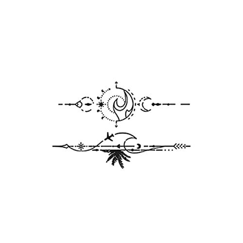 YLGG Adesivi per Tatuaggi temporanei alla Moda Mare Onda, Adatti per Uomini e Donne, Impermeabili, Rimovibili