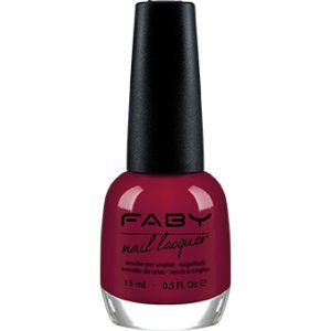 FABY NAILS - Smalto As You Like It - Bordeaux - Smalto Lunga Tenuta - 100% Vegan, Cruelty Free - Senza DBP, Toluene, Formaldeide, Resina di Formaldeide e Canfora - 15 ml