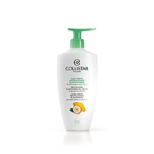 Collistar Oleo-crema RIvitalizzante Elasticizzante | Texture sensoriale di facile assorbimento | Elasticizza e ripara l'epidermide, ad azione illuminante | Per pelli secche e molto secche | 400ml