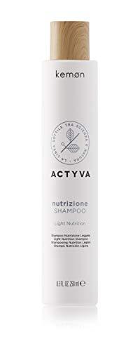 Kemon - Actyva Nutrizione Shampoo, Azione Idratante e Protettiva per Cute e Capelli Secchi, con Avena e Olio di Oliva, Effetto Lucentezza - 250 ml