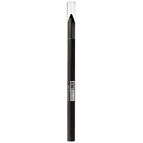Maybelline New York Matita Occhi Tattoo Liner Gel Pencil, Resiste fino a 36 H, Non Sbava, Resistente all'Acqua, 900 Deep Onyx, Confezione da 1