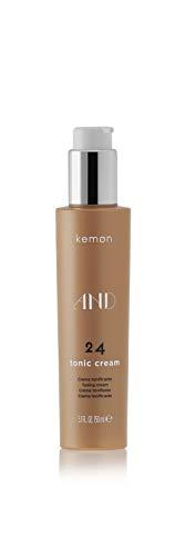 Kemon - AND 24 Tonic Cream, Crema Idratante e Tonificante per Capelli Ricci e Crespi, senza Appesantire - 150 ml