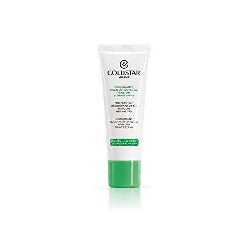 Collistar Deodorante multi-attivo 24 ore roll-on, Efficacia deodorante a lunga durata, Con latte di avena ed estratto di camomilla, Adatto a tutti i tipi di pelle, 75ml