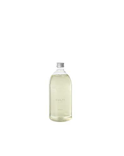 Ricarica diffusore bastoncini da 1000 ml | Culti Milano | Fragranza AQQUA, al bergamotto e sandalo - Durata 4 mesi - Metratura da 40 a 60 mq